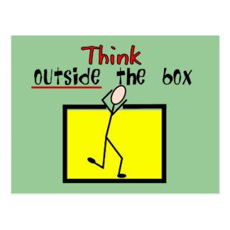 Think Outside the Box Postcard