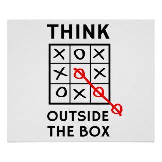 Think Outside The Box Posters
