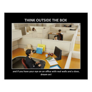 Think-outside-the-box Poster at Zazzle