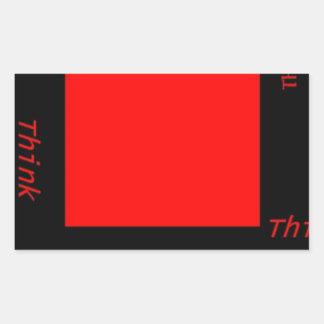 Think Outside The Box Rectangular Sticker