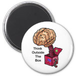 Think Outside the Box Refrigerator Magnet