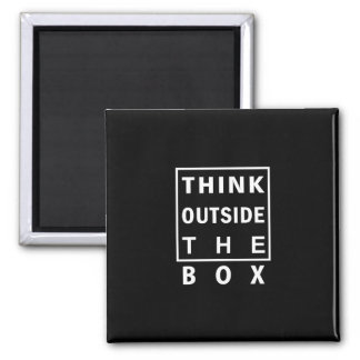 think outside the box smart text quote clever mess magnet