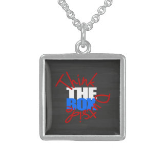 Think Outside The Box Sterling Silver Necklace