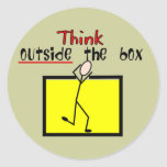 Think Outside the Box Stickers