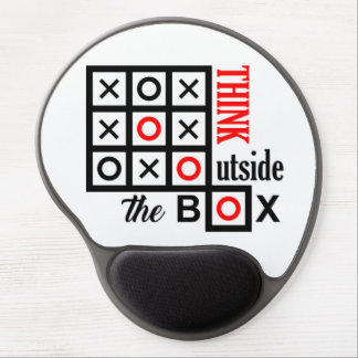 think outside the box tic tac toe extra smart clev gel mouse pad