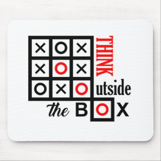 think outside the box tic tac toe extra smart clev mouse pad