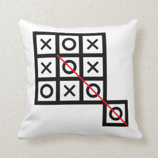think outside the box tic tac toe extra smart clev throw pillow