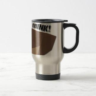 Think outside the box! travel mug