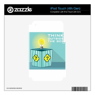 Think Outside The Box Vector Decal For iPod Touch 4G