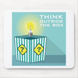 Think Outside The Box Vector Mouse Pad