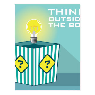 Think Outside The Box Vector Postcard