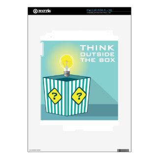 Think Outside The Box Vector Skin For The iPad 2