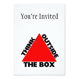 "Think Outside The Box With Triangle 5"" X 7"" Invitation Card"