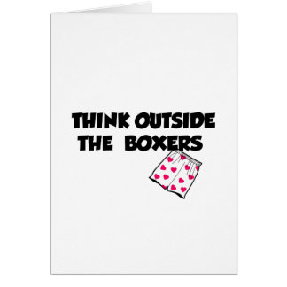 Think Outside The Boxers Card