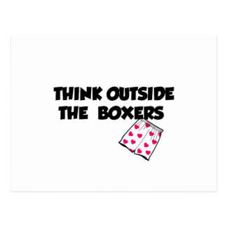 Think Outside The Boxers Postcard