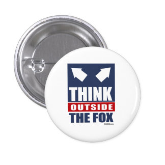 Think outside the fox 1 inch round button