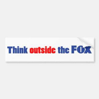Think outside the FOX Car Bumper Sticker