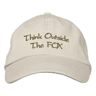 Think Outside The FOX Embroidered Baseball Cap