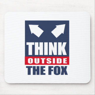 Think outside the fox mouse pads