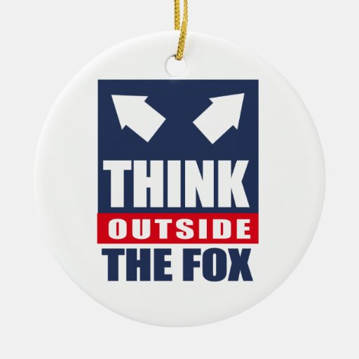 Think outside the fox ornaments