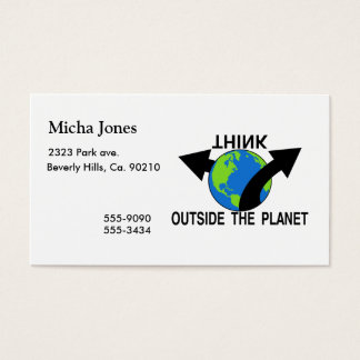 Think Outside The Planet Business Card