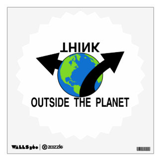 Think Outside The Planet Wall Sticker