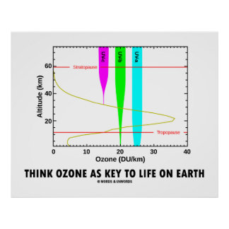 Think Ozone As Key To Life On Earth (Graph) Poster