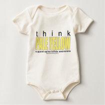 think PALE YELLOW Spina Bifida Baby Bodysuit