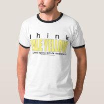 think PALE YELLOW Spina Bifida T-Shirt