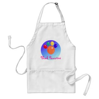 Think Pawsitive_Paw-shaped balloon bouquet apron apron