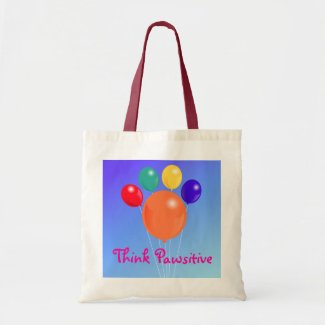 Think Pawsitive_Paw-shaped balloon bouquet bag
