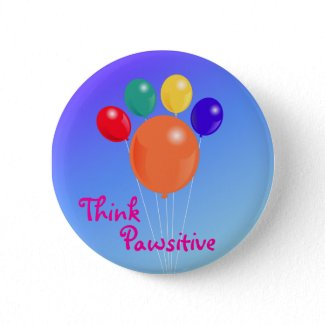 Think Pawsitive_Paw-shaped balloon bouquet button