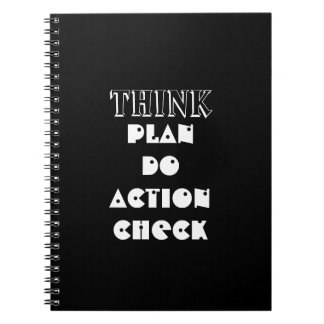 Think PDCA Plan Do Check Action New York City Notebook