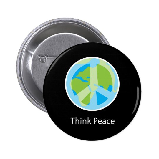 Think Peace Button