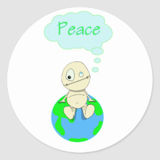 Think ... Peace Classic Round Sticker