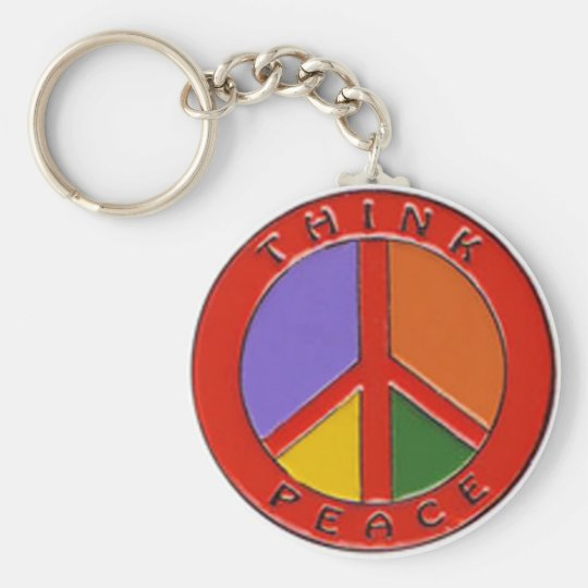 Think Peace Keychain