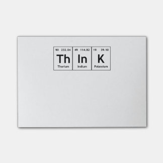 ThInK Periodic Table Element Word Chemistry Symbol Post-it Notes