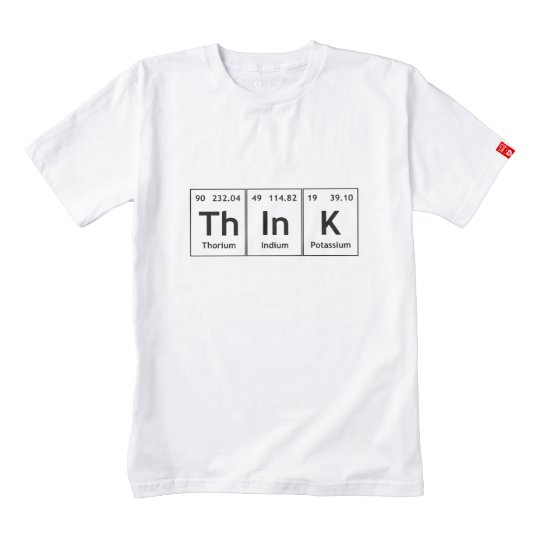 Think Periodic Table Element Word Chemistry Symbol Zazzle Heart T