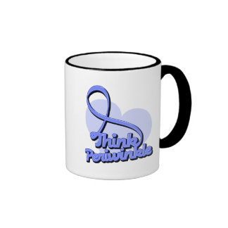 Think Periwinkle Stomach Cancer Ringer Coffee Mug