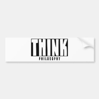 Think Philosophy Bumper Stickers
