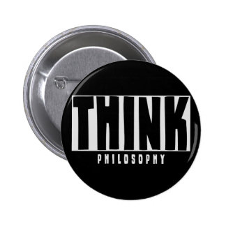 Think Philosophy Button