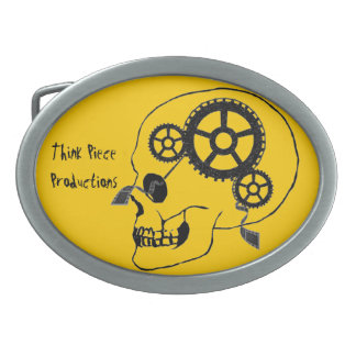 Think Piece Productions Belt Buckle Yellow