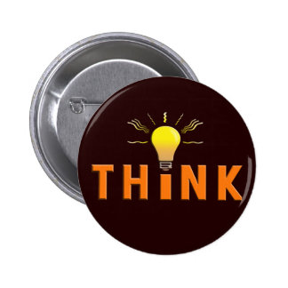Think Pinback Button