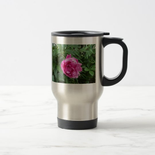 Think Pink Flower Travel Mug
