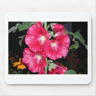 THINK PINK Hollyhock cards apron gifts gift garden Mouse Pad