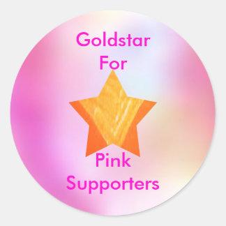 Think Pink - investigación de cáncer de la ayuda Pegatina