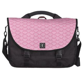 Think Pink Japanese Wave Pattern PT 5 Bag For Laptop