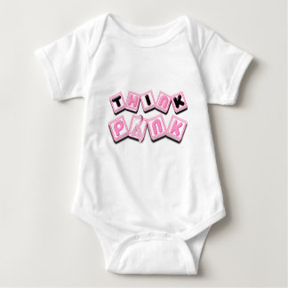 Think Pink.png Baby Bodysuit