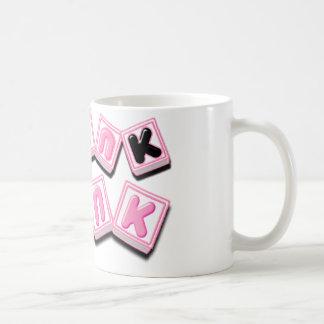 Think Pink.png Classic White Coffee Mug