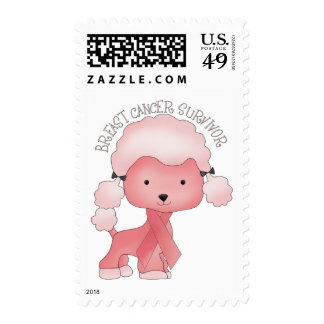 Think Pink Poodle Stamps